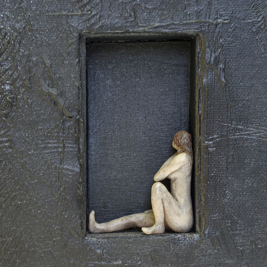 Schwarze Bilder Eva Jaskolski Detail